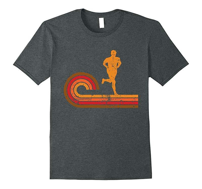 Retro Style Runner Silhouette Running T-Shirt-FL