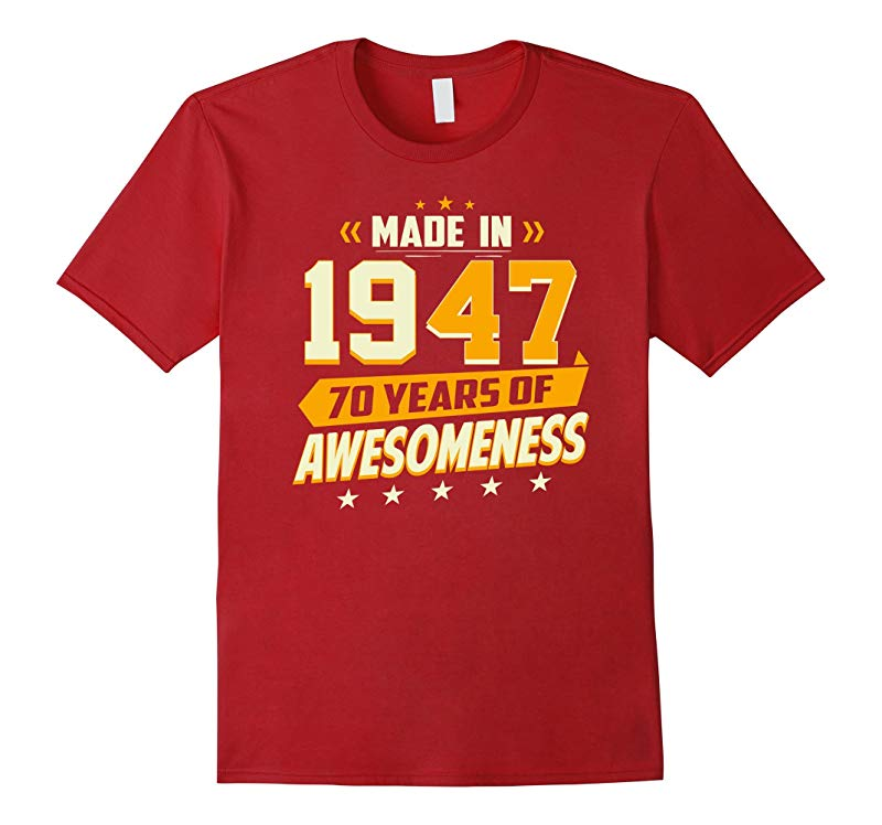 70th Birthday Vintage T-Shirt 70 Year Old Men Women Gifts-ANZ