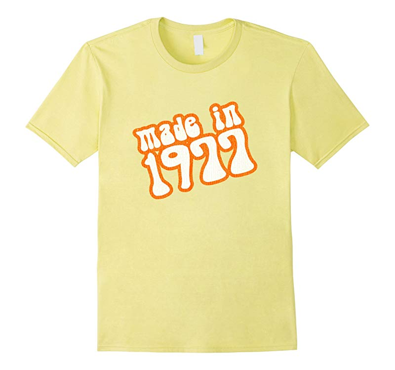 40th Birthday T Shirt Made In 1977 Distressed Look-RT