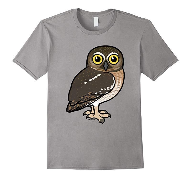 Cute Cartoon Elf Owl T-Shirt-RT