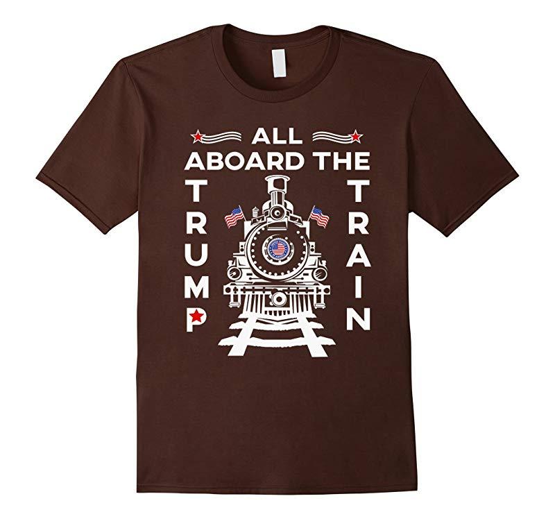 New Original  All aboard the trump train T-Shirt-RT