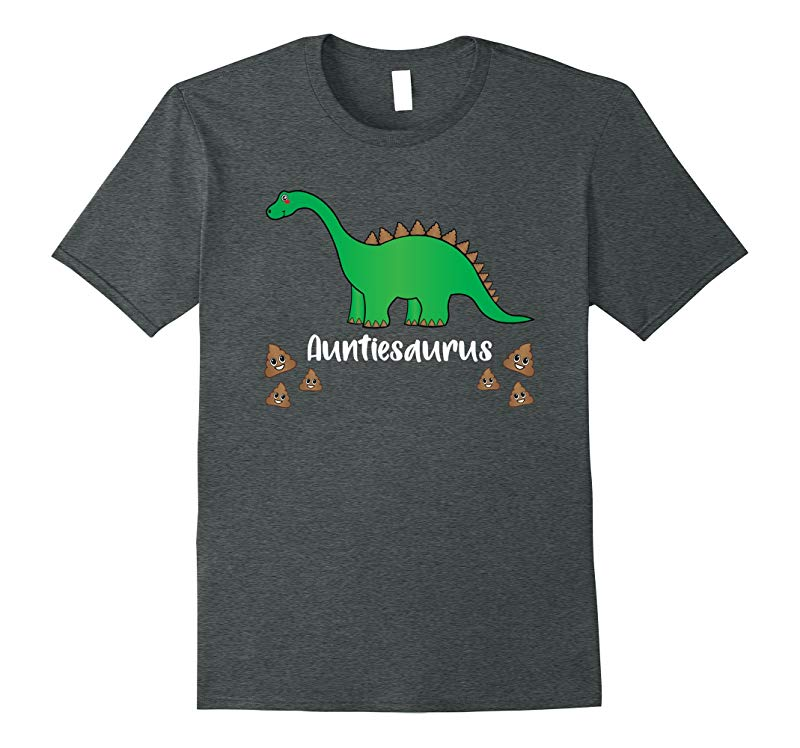Auntie Birthday Emoji Shirts Poop Dinosaur saurus Family Tee-RT