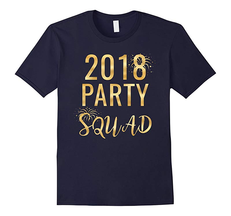 2018 New Year's Eve Party Squad Matching Gold Glitter Tees-RT