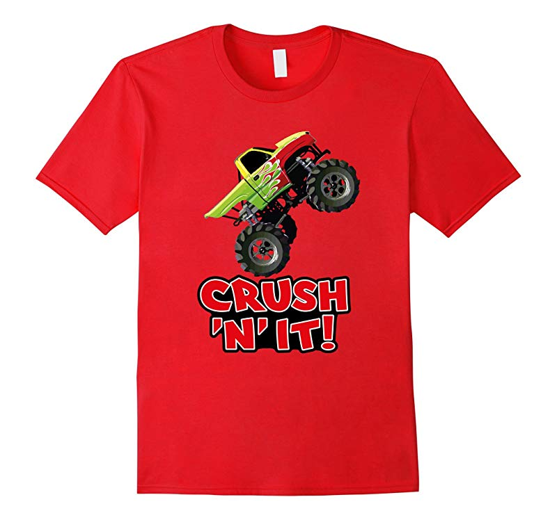 CRUSH N IT Monster Truck Jam tee for adults and kids-RT