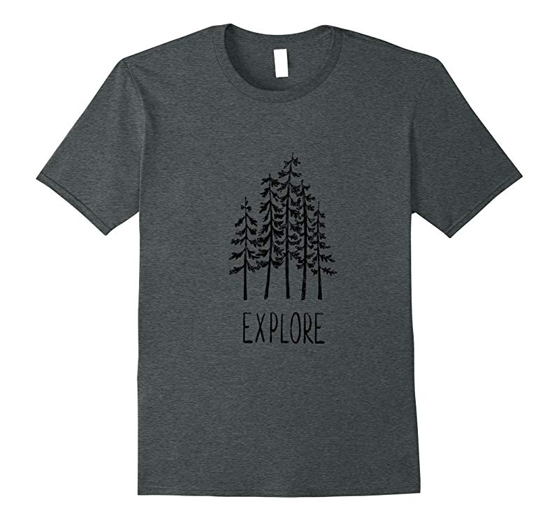 Explore Pine Trees Camping Shirt Tribal Outdoors Forrest-RT