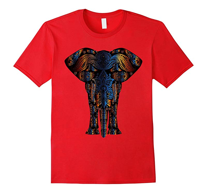 Elephant T-shirt Animal Lover Aztec India Phil Shenhav-RT