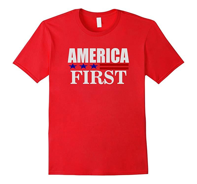 2016 Donald Trump America First T shirt-RT