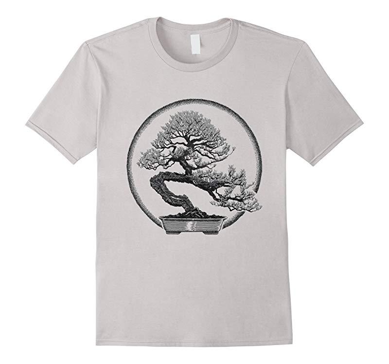 Bonsai Tree T-Shirt Japan Penjing Kanji Hanja Graphic Tee-RT