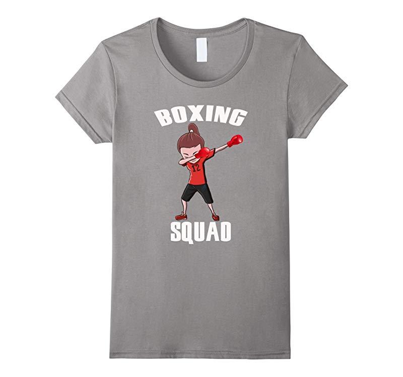 Boxing Dabbing Squad Girl Funny Dab Dance T-shirt For Girls-RT
