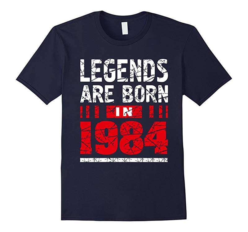 33th Year Old Man Shirt Gift Legends Are born in 1984 Tee-RT