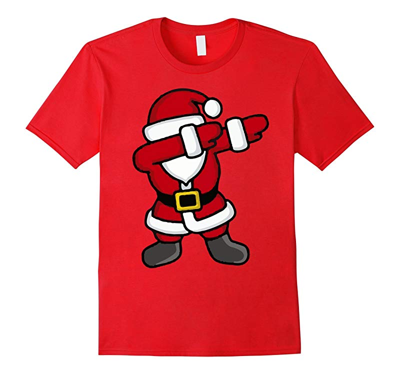 Dabbing Santa T-Shirt - Funny Santa Claus Gift For Christmas-RT