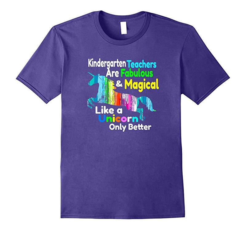 Kindergarten Teacher Gift Shirt Fabulous Magical Unicorn-Art