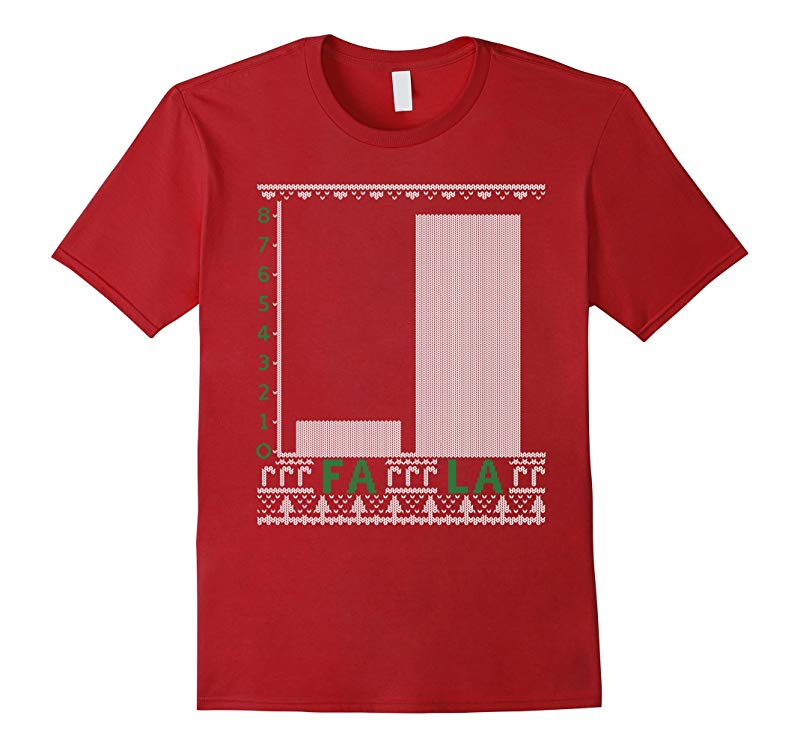Fa La Graph Ugly Christmas Sweater Math Teacher T-shirt-RT
