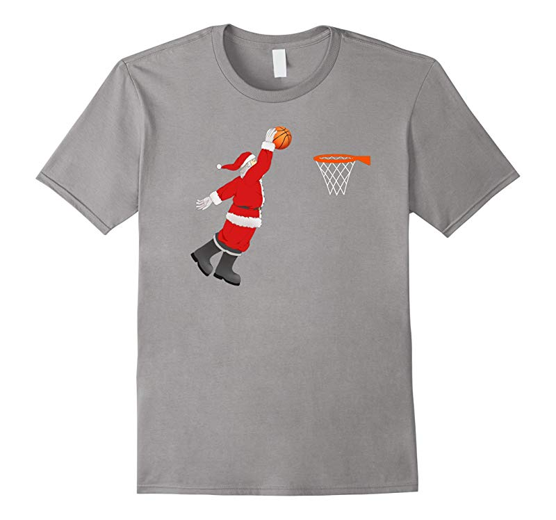 Basketball Santa Christmas Shirt - Santa Sports Tshirt-RT