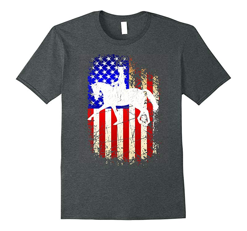 4th of July Dressage Shirt Patriotic American Flag T-Shirt-PL
