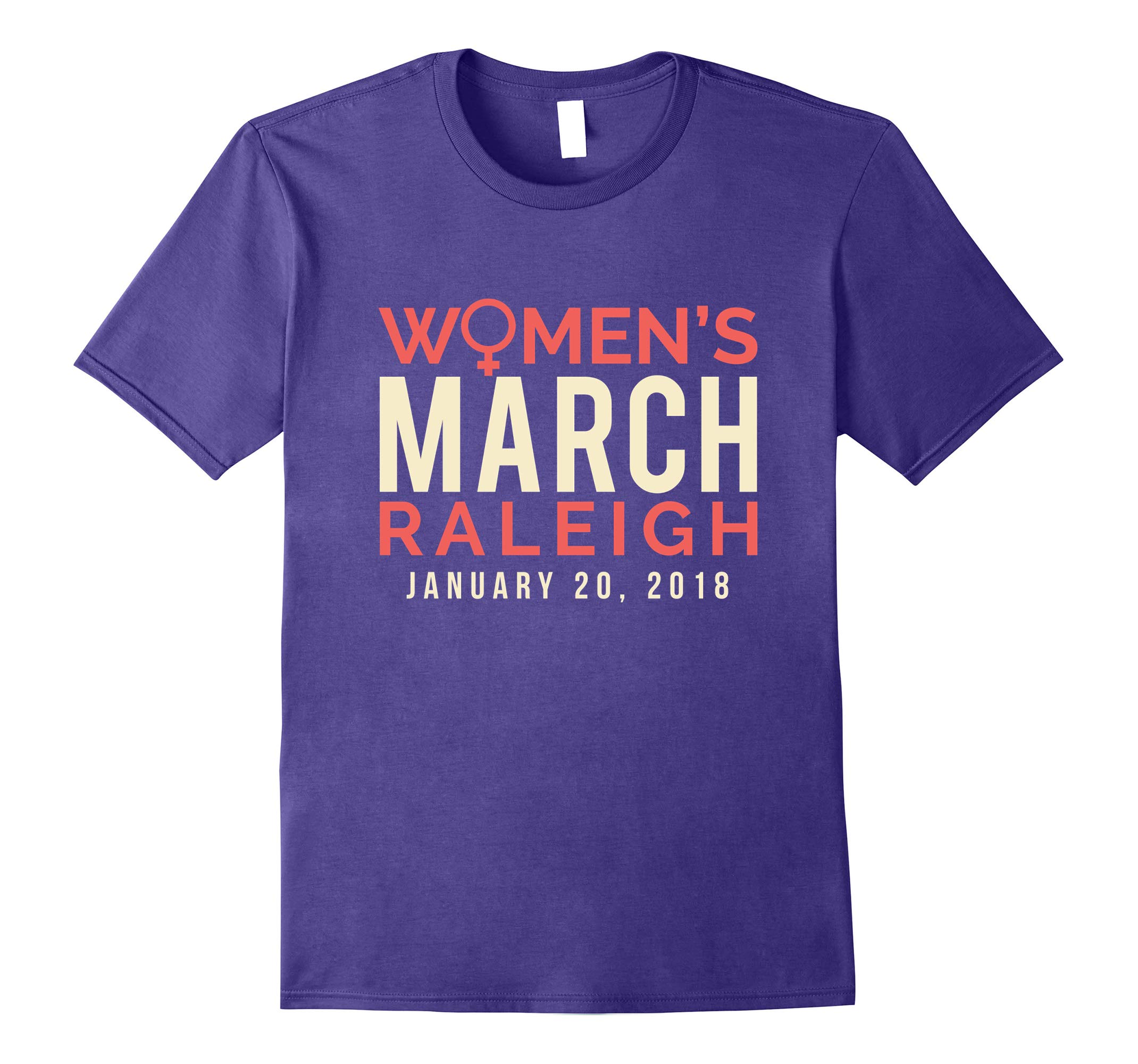 Raleigh NC Women's March January 20 2018 Tee Shirt-RT