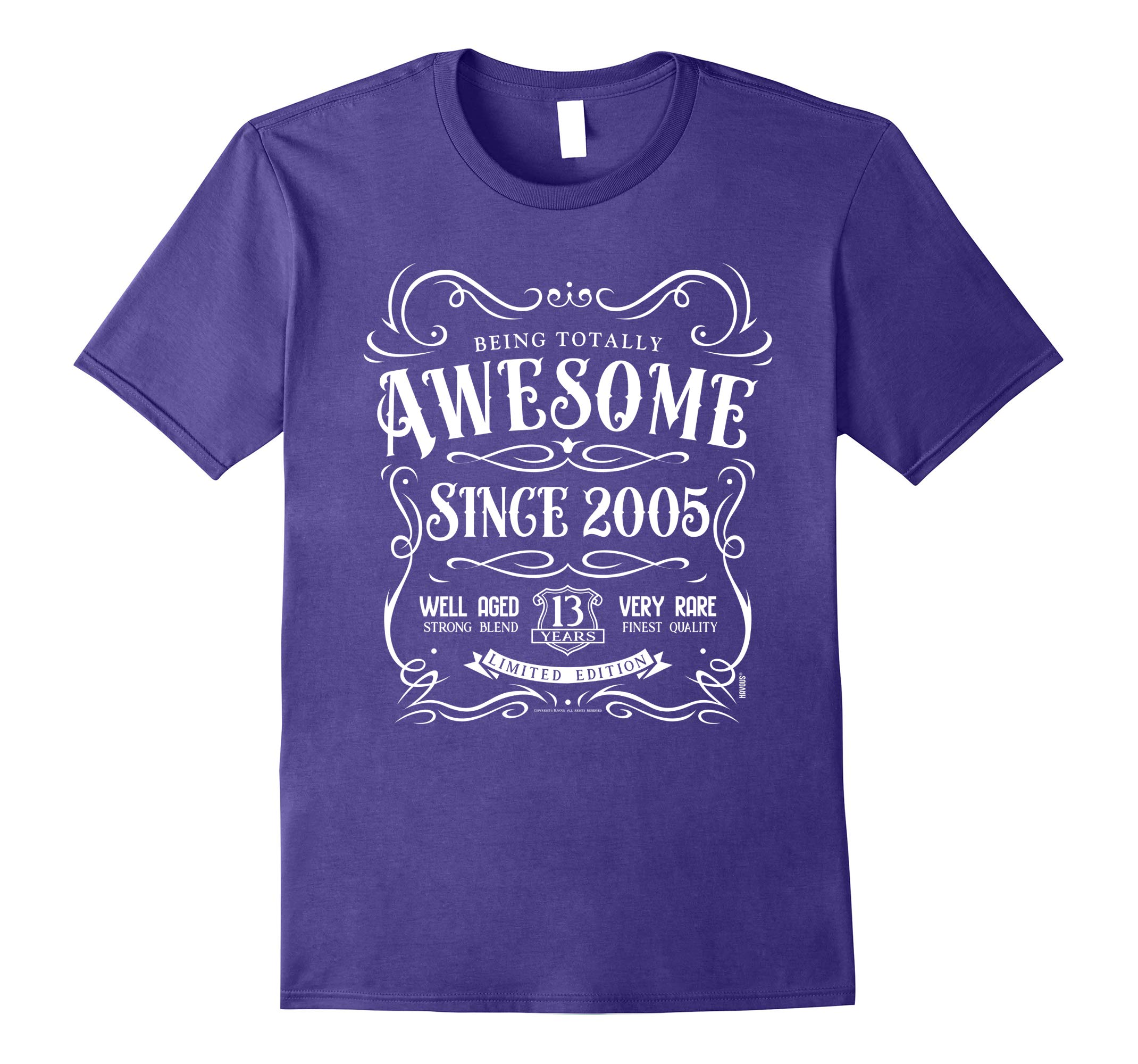13th Birthday Gift T-Shirt Awesome Since 2005-RT