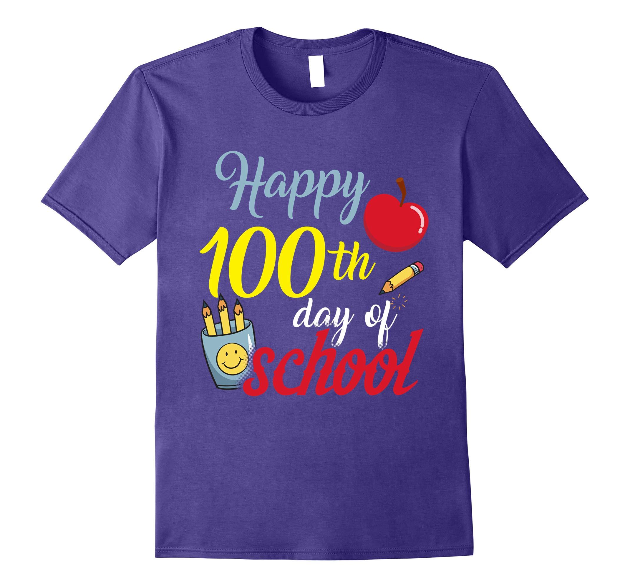 Happy 100th day of school t shirt-RT