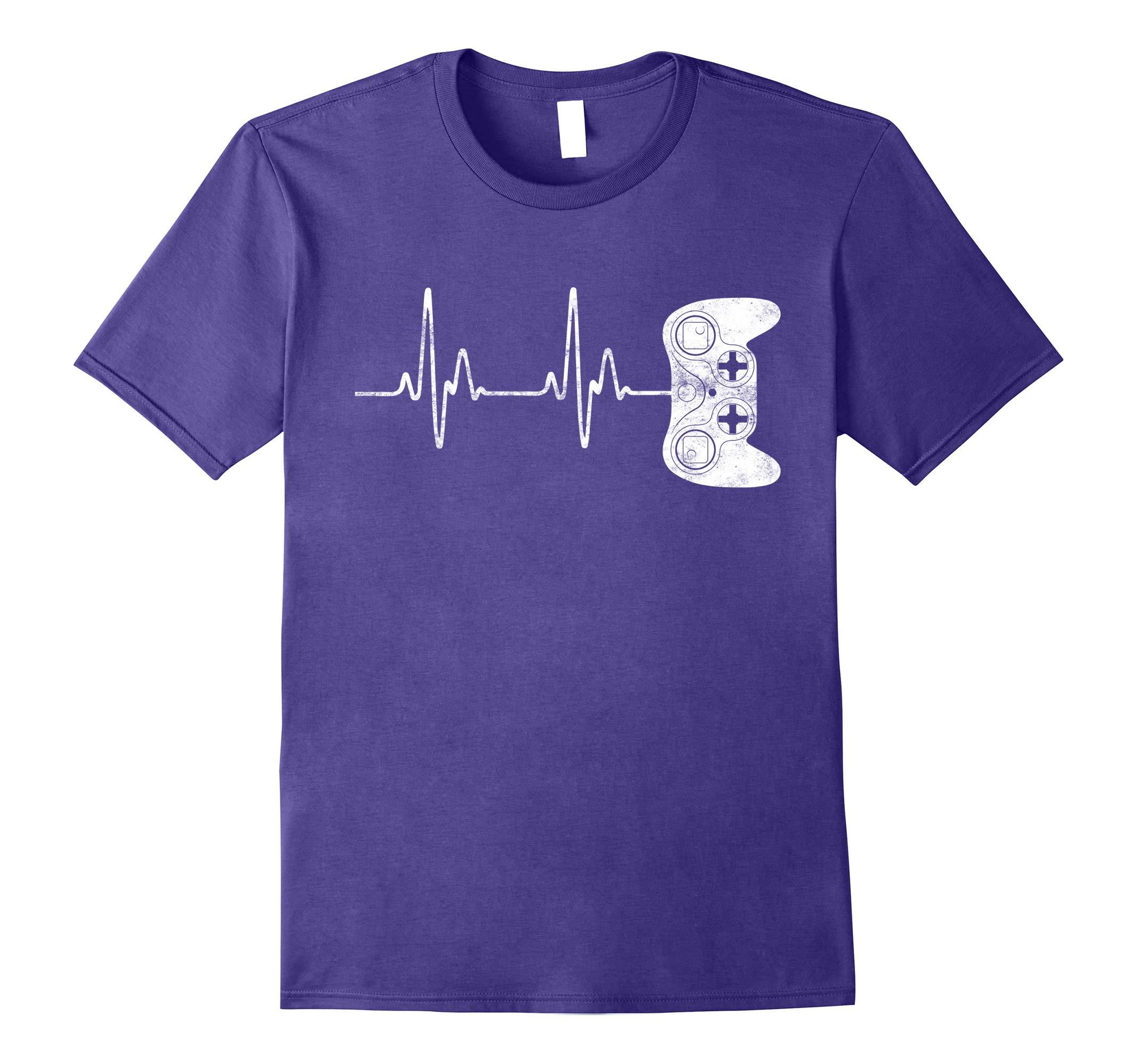 Gamer Heartbeat T-Shirt Video Game Lover Gift Shirt-RT