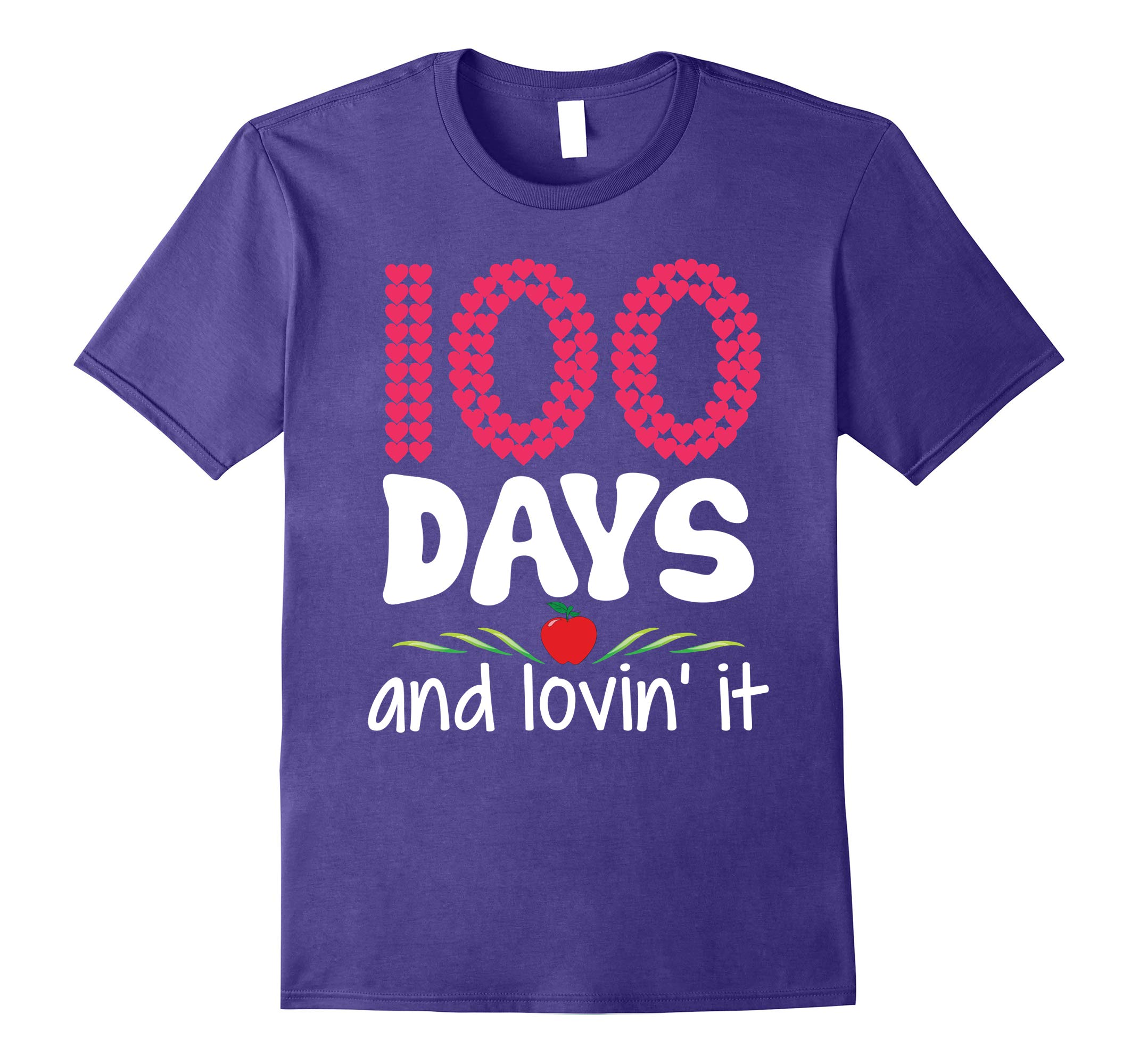 100 Days and Lovin' It Loving 100th Day Teacher Kid T-Shirt-RT