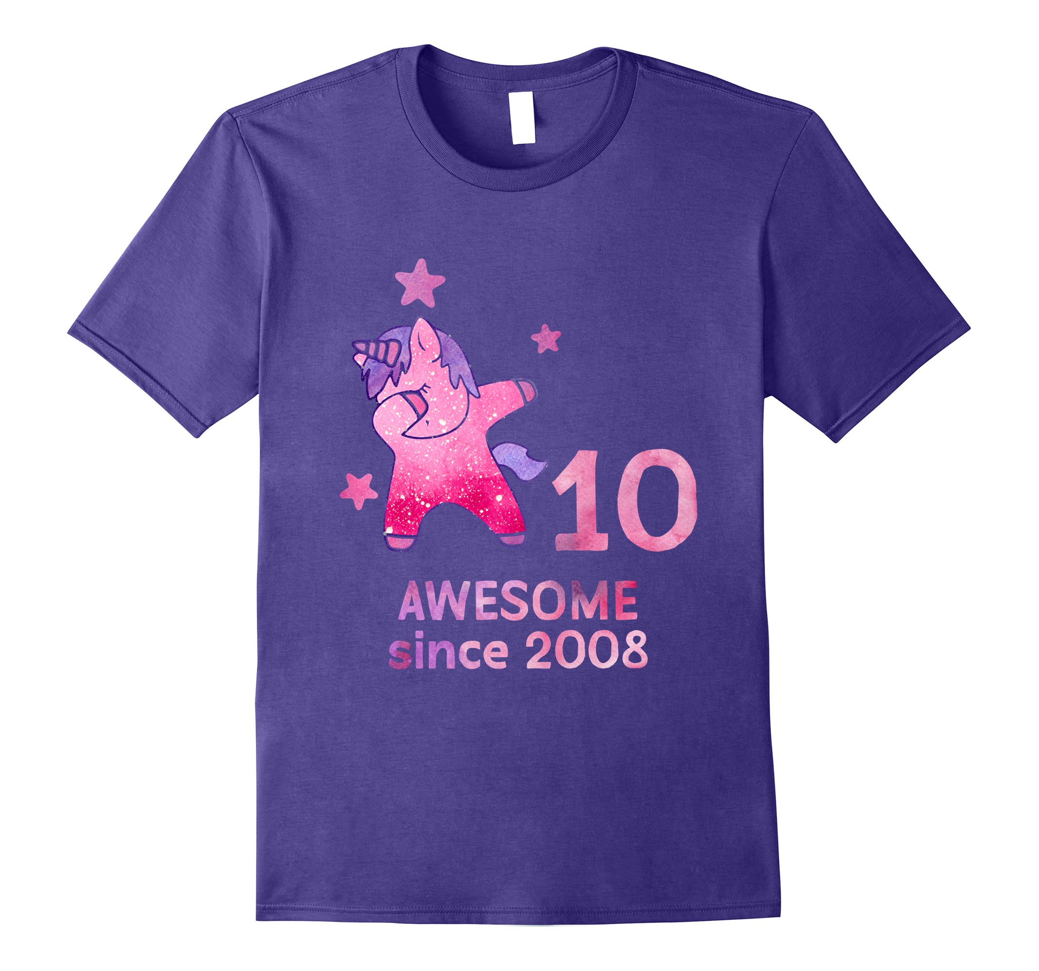 10th Birthday Shirt Unicorn Gift Girls Age 10 Women Tshirt-RT