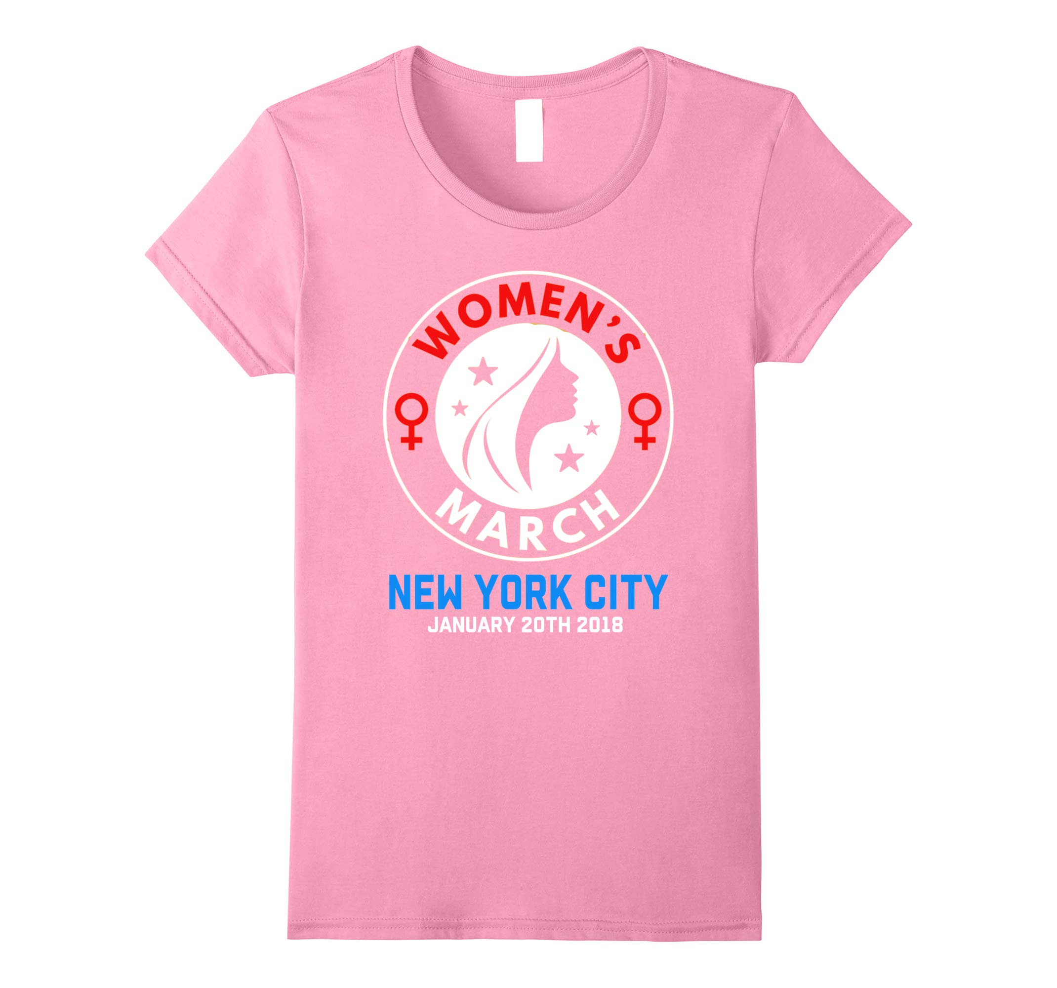 Womens Women's March New York City January 20 2018 Protest T-Shirt-RT