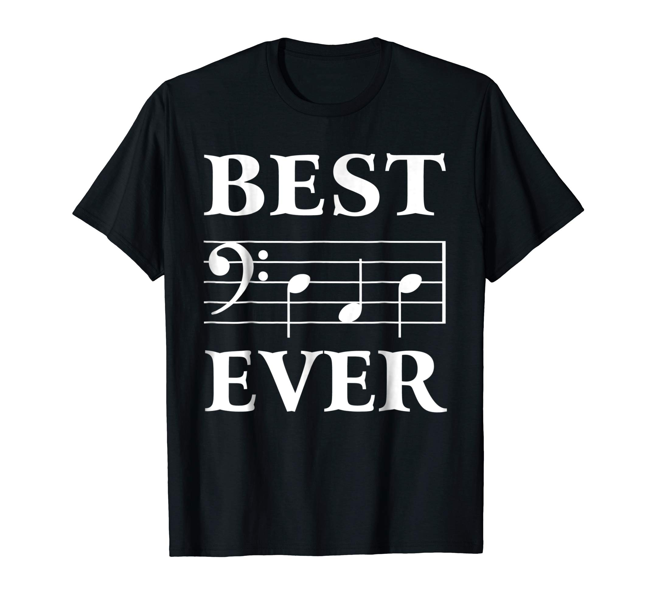 Best Dad Ever Bass Clef Musician Father's Day Tshirt gift-alottee gift