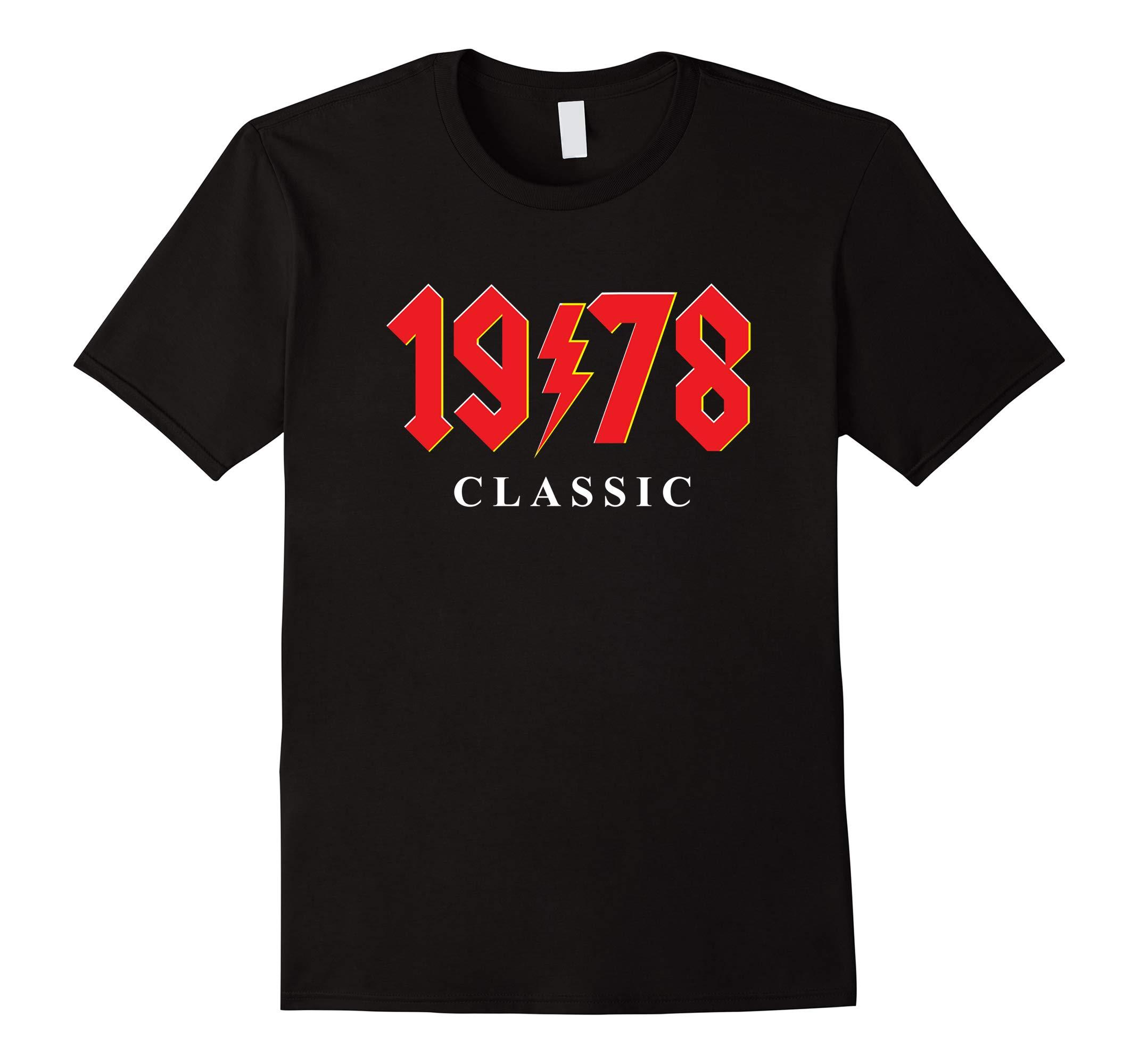 1978 Classic Rock 40th Birthday Gift T Shirt-RT