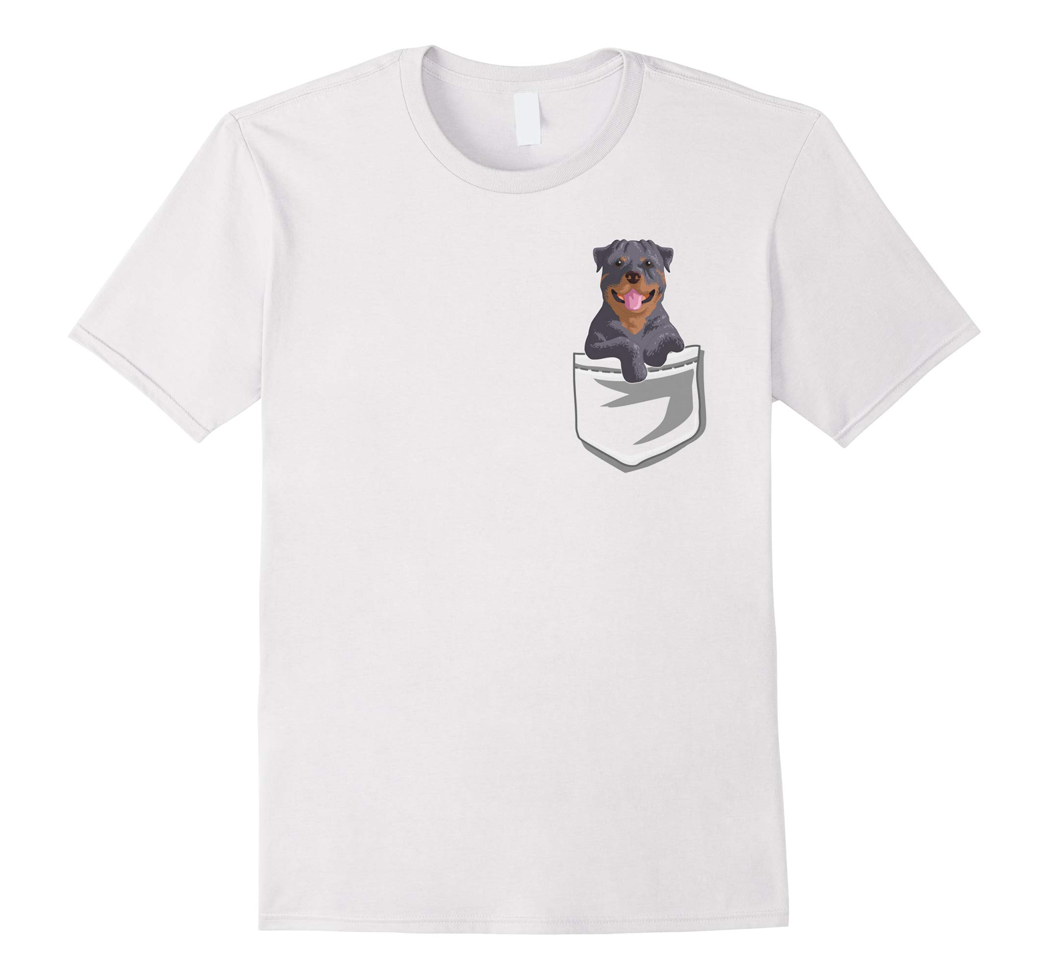 Cute Rottweiler In your Pocket T-Shirt Fun Puppy Gift Shirt-RT