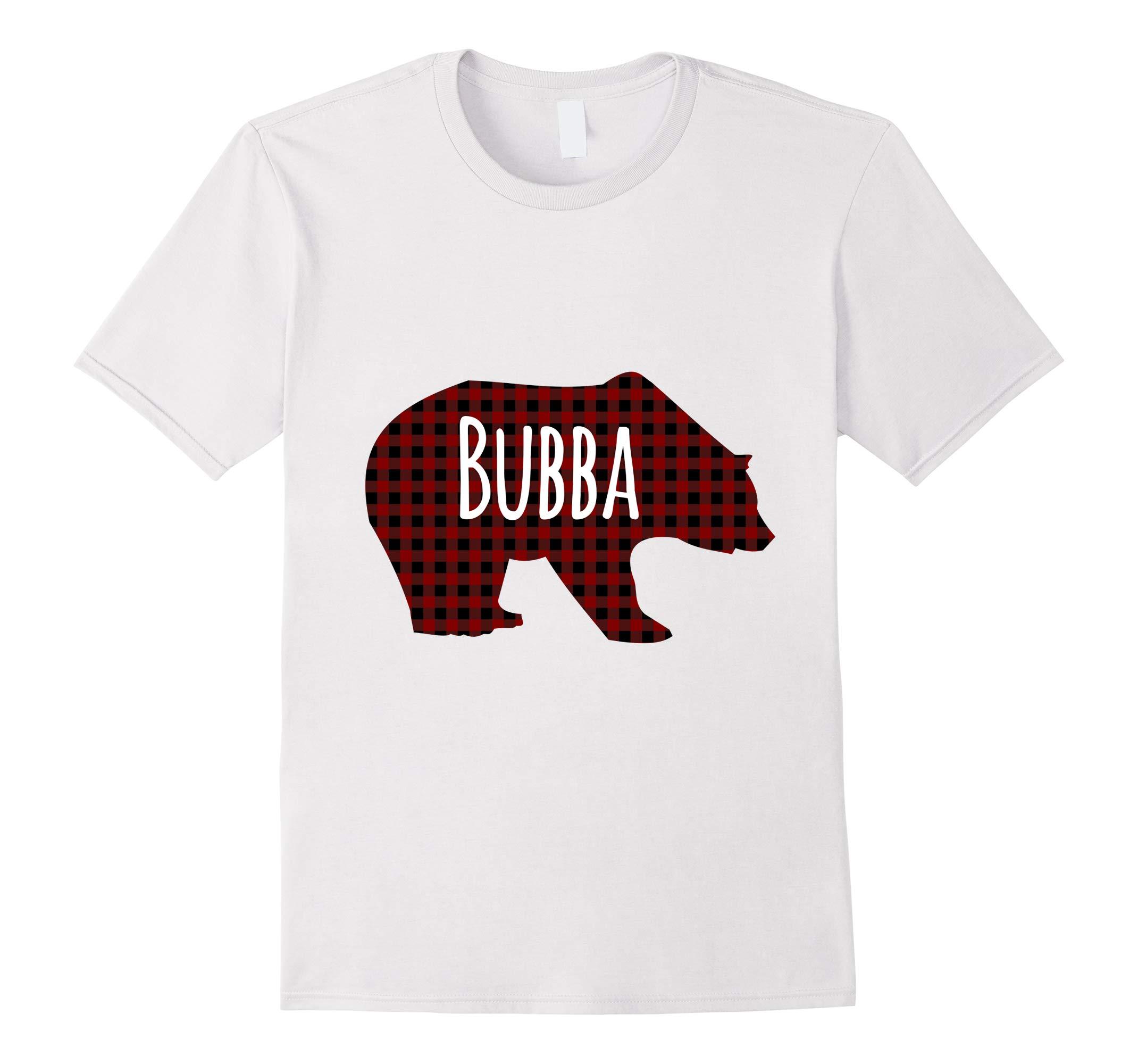 Red Plaid Bubba Bear Buffalo Matching Family Pajama T-Shirt-RT