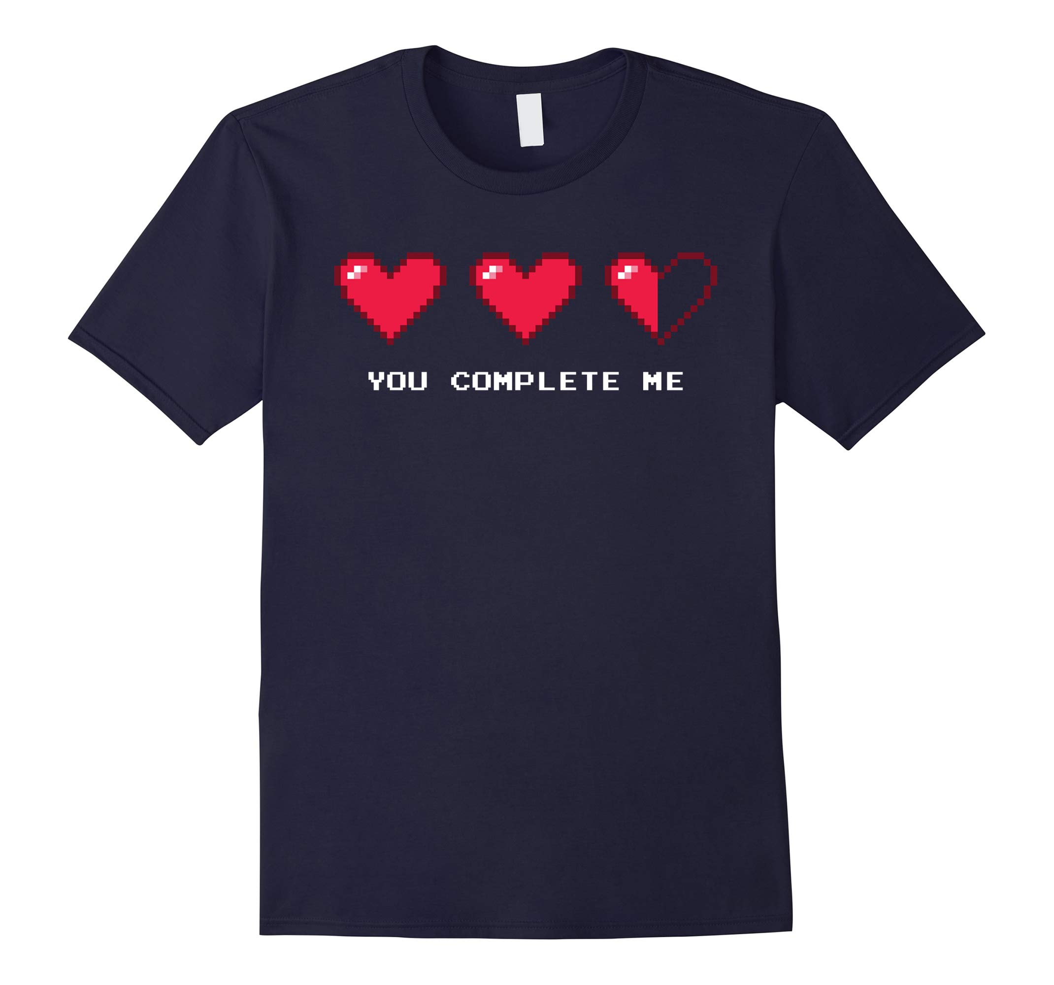 8 Bit Retro Pixel Heart Video Gamer Valentines T-Shirt-RT