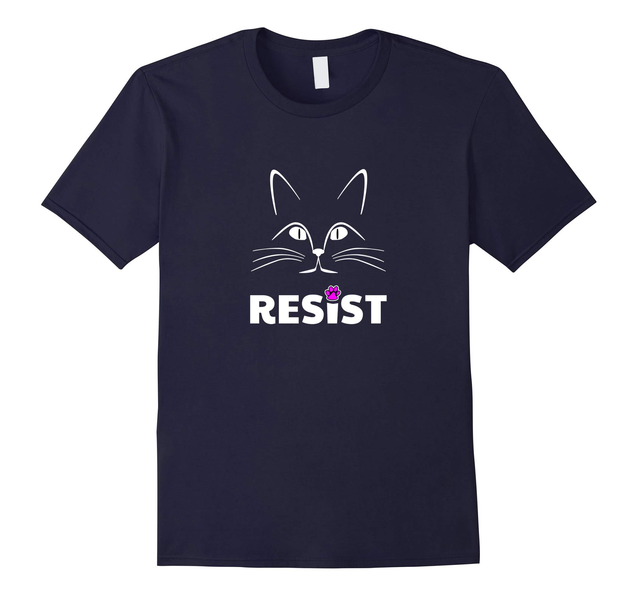 Resist Persist Cat Paw Fist Pink T-Shirt-RT
