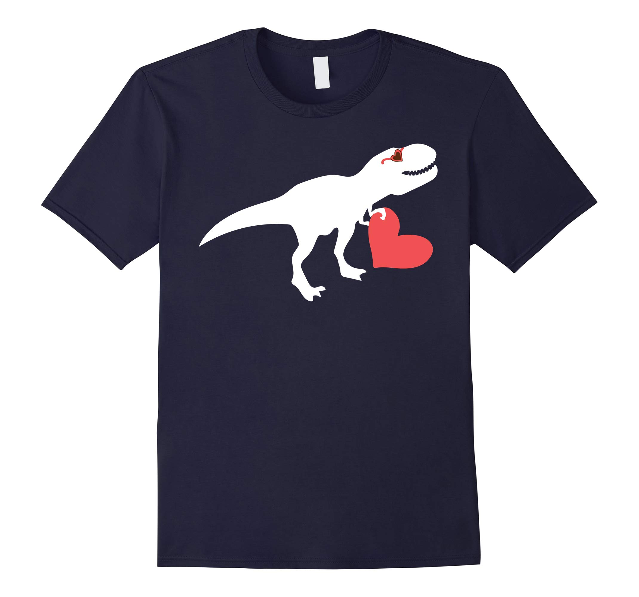 Valentines Day Heart Dinosaur Party Shirts for Boys-RT