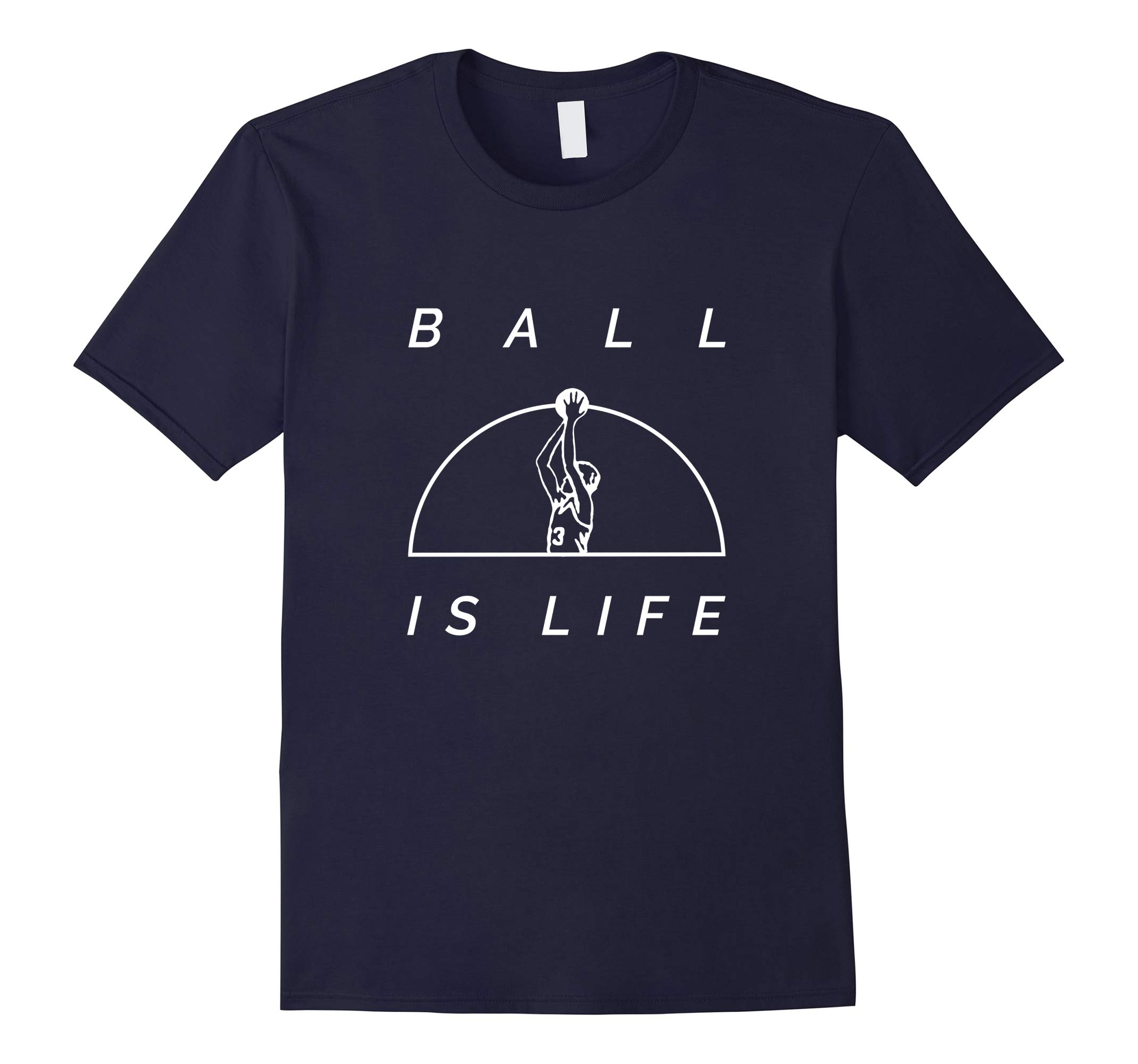 Ball Is Life Trendy + Cool Graphic Basketball T-Shirt-RT