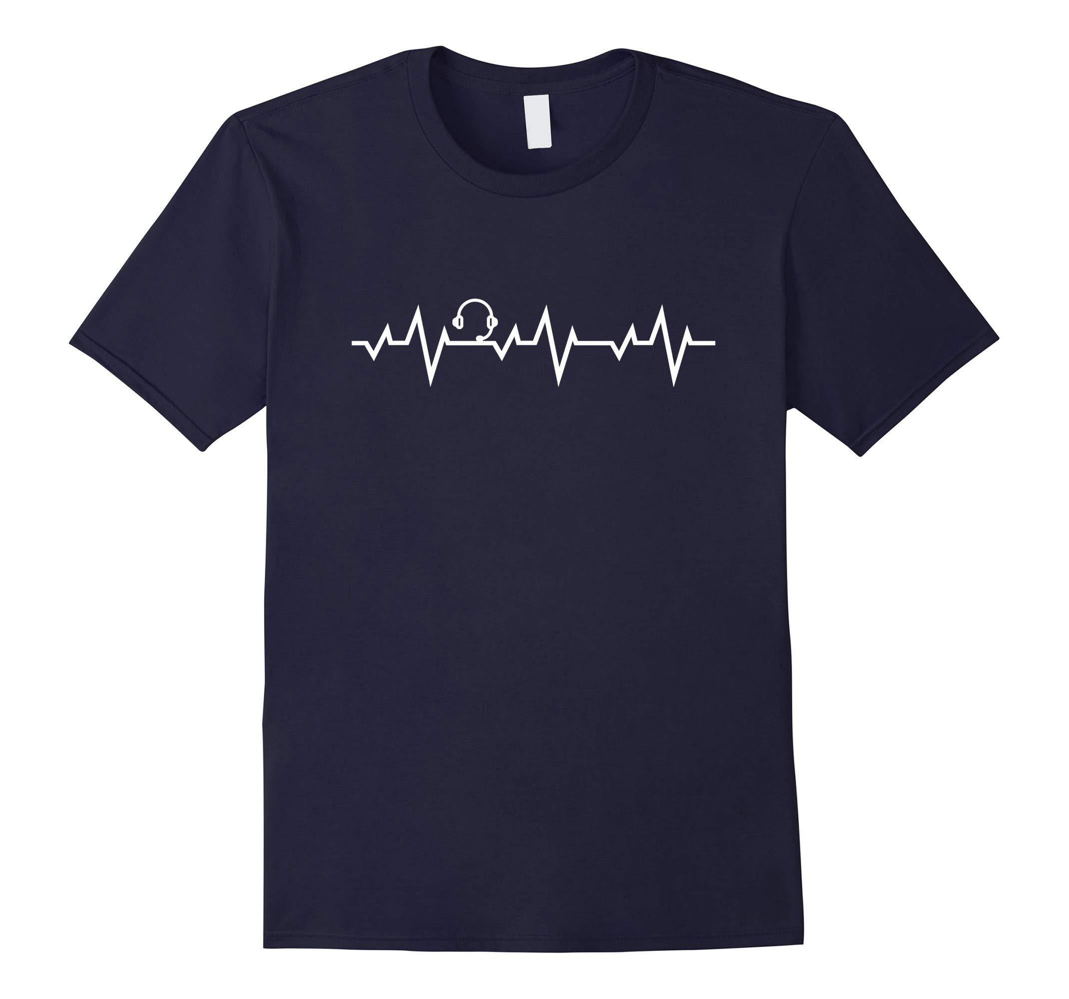 911 Operator Dispatcher Heartbeat First Responder Tshirt-RT