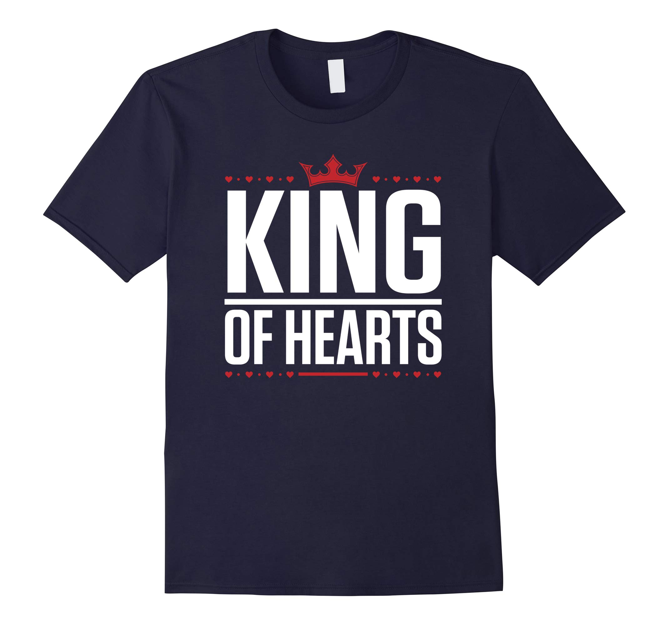 King of Hearts Valentines Day T-Shirt-RT