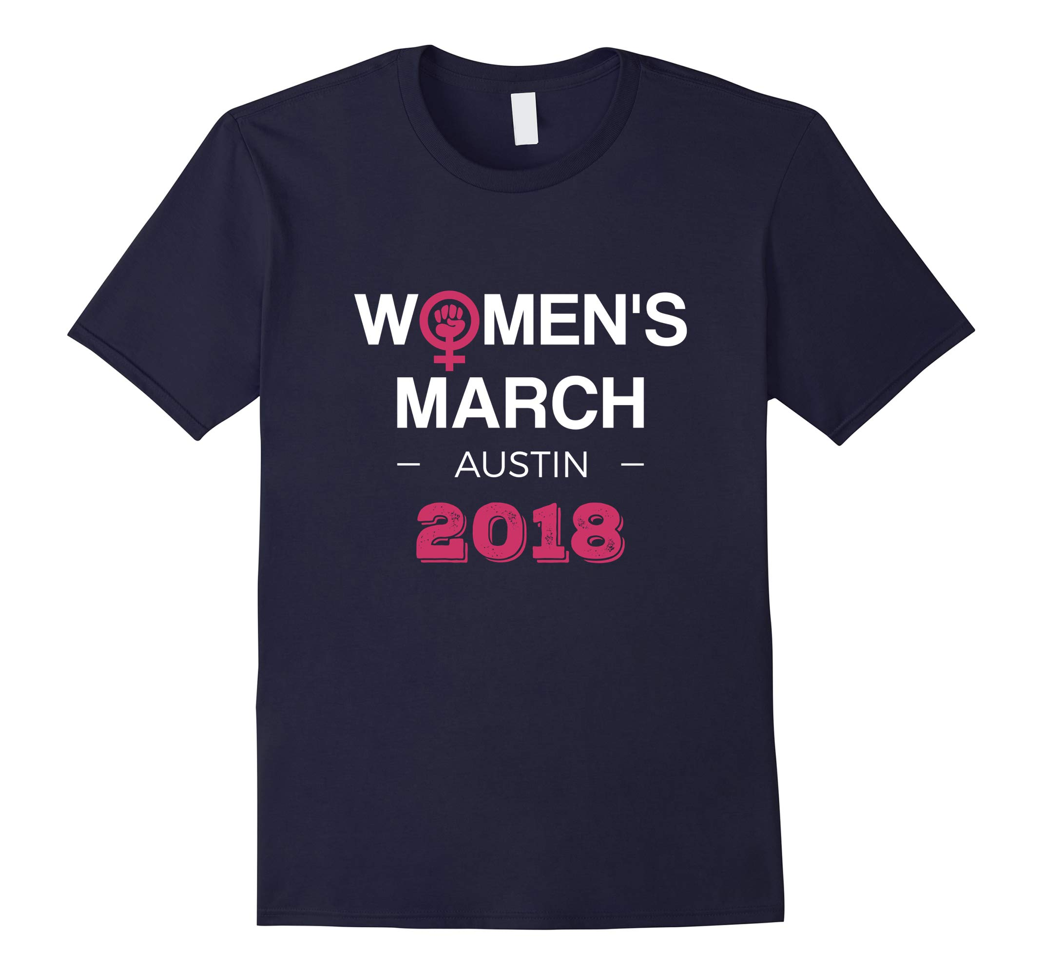 Austin Women's March 2018 T-shirt Feminism Symbol Design-RT
