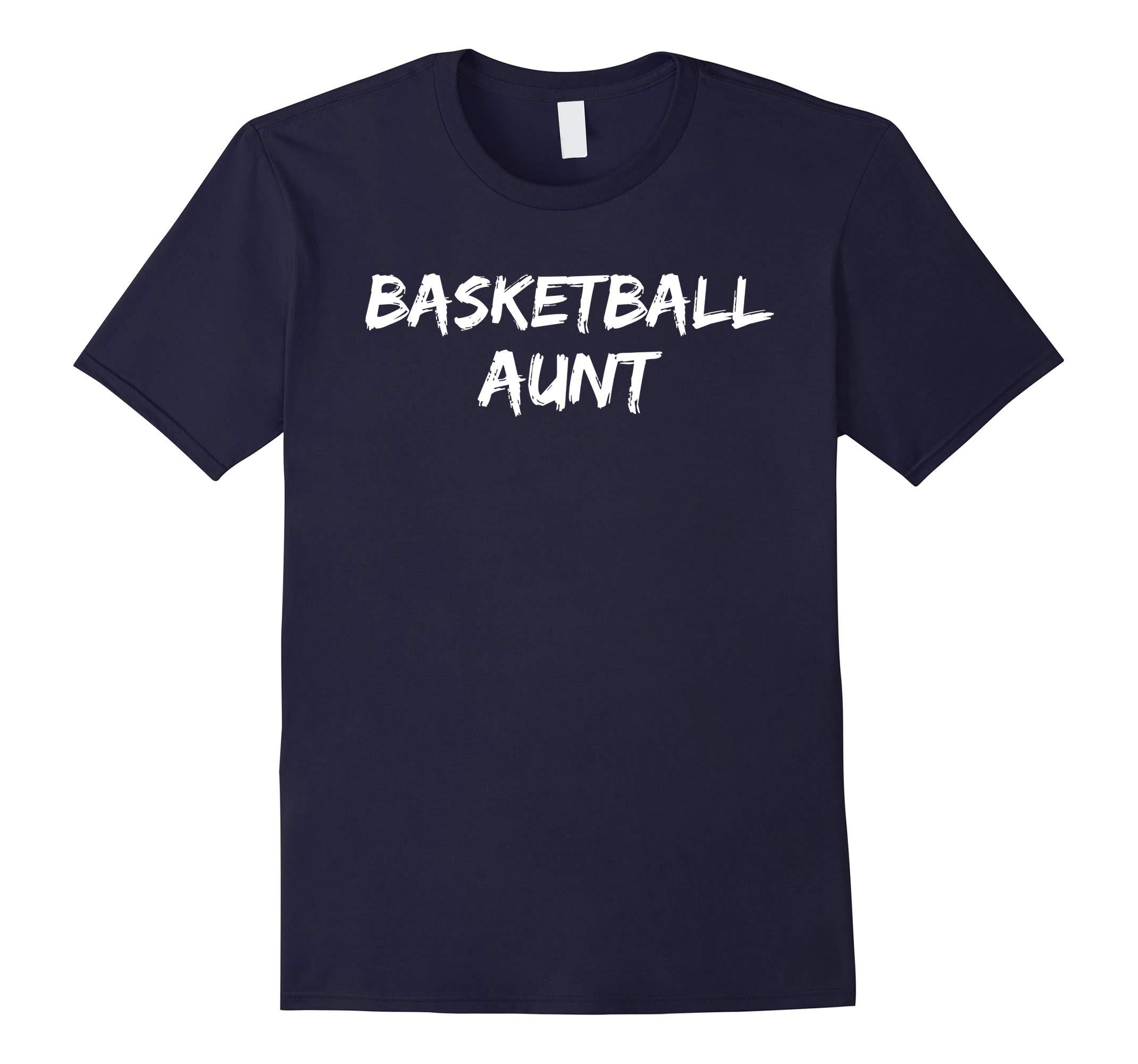 Basketball Aunt Shirt Fun Cute Baller Auntie Shirt Hoops Tee-RT