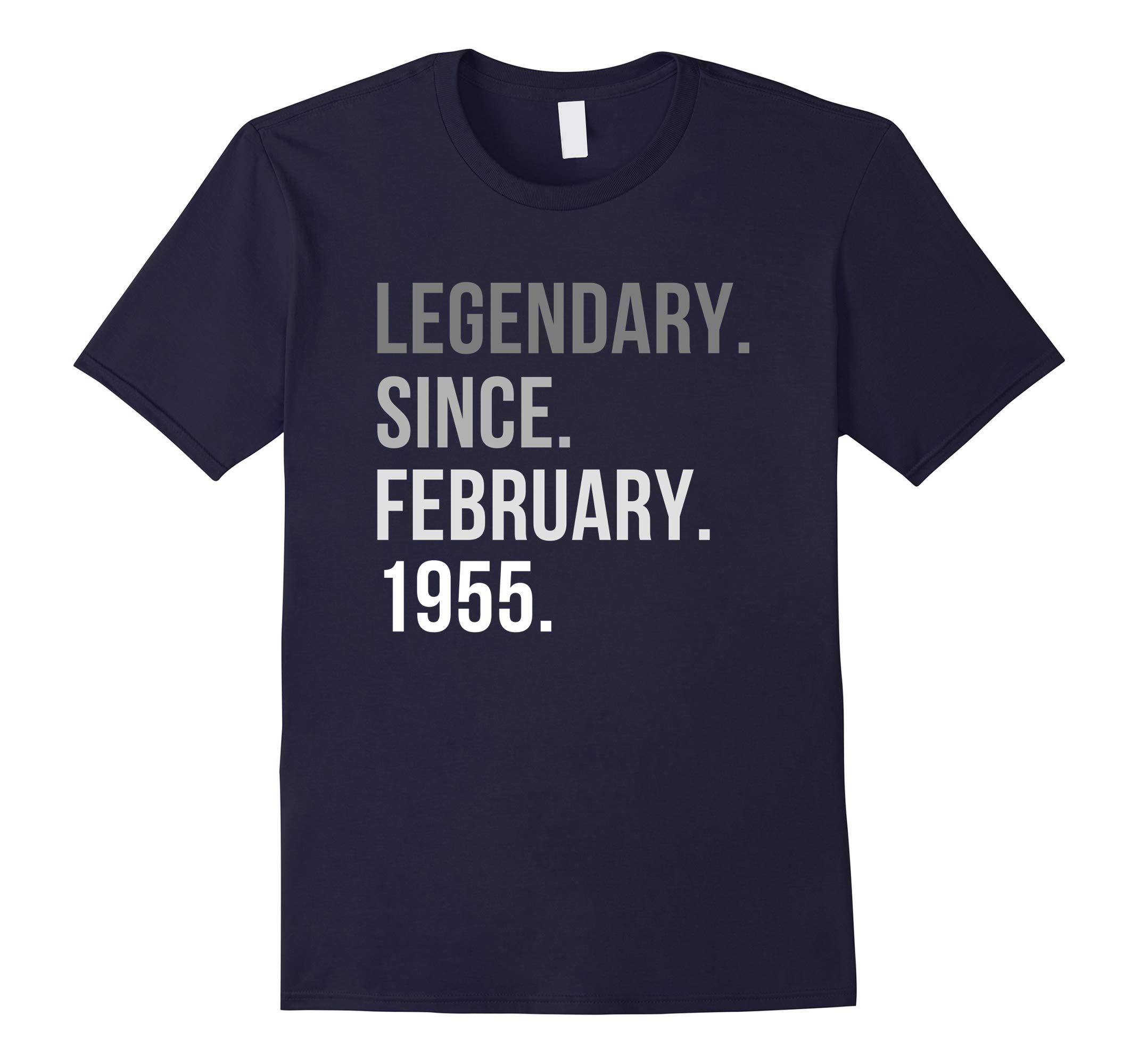 Legendary Since February 1955 Shirt 63th Birthday Gifts-RT