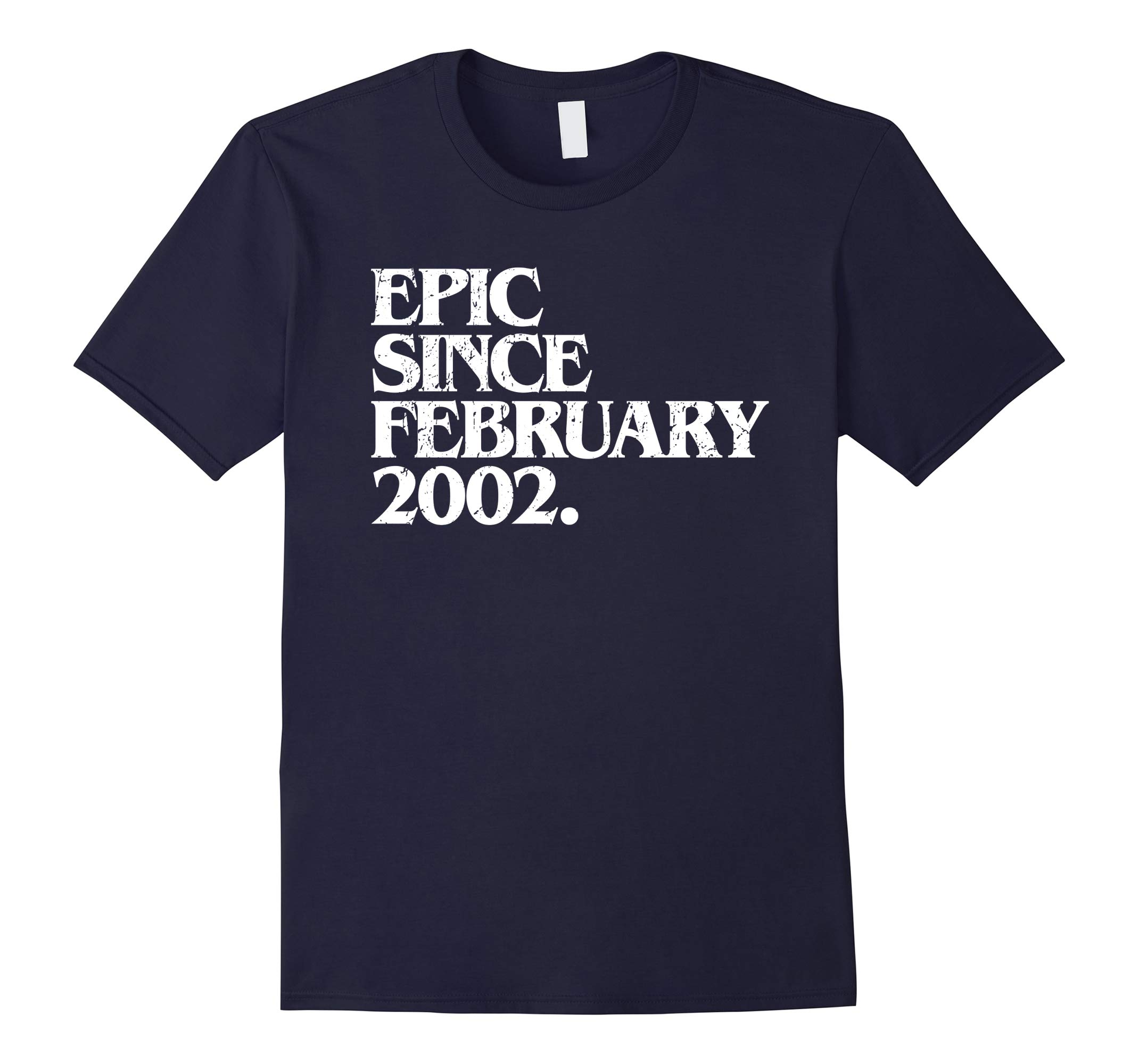 16th Birthday Epic Since February 2002 Funny Gift T-Shirt-RT