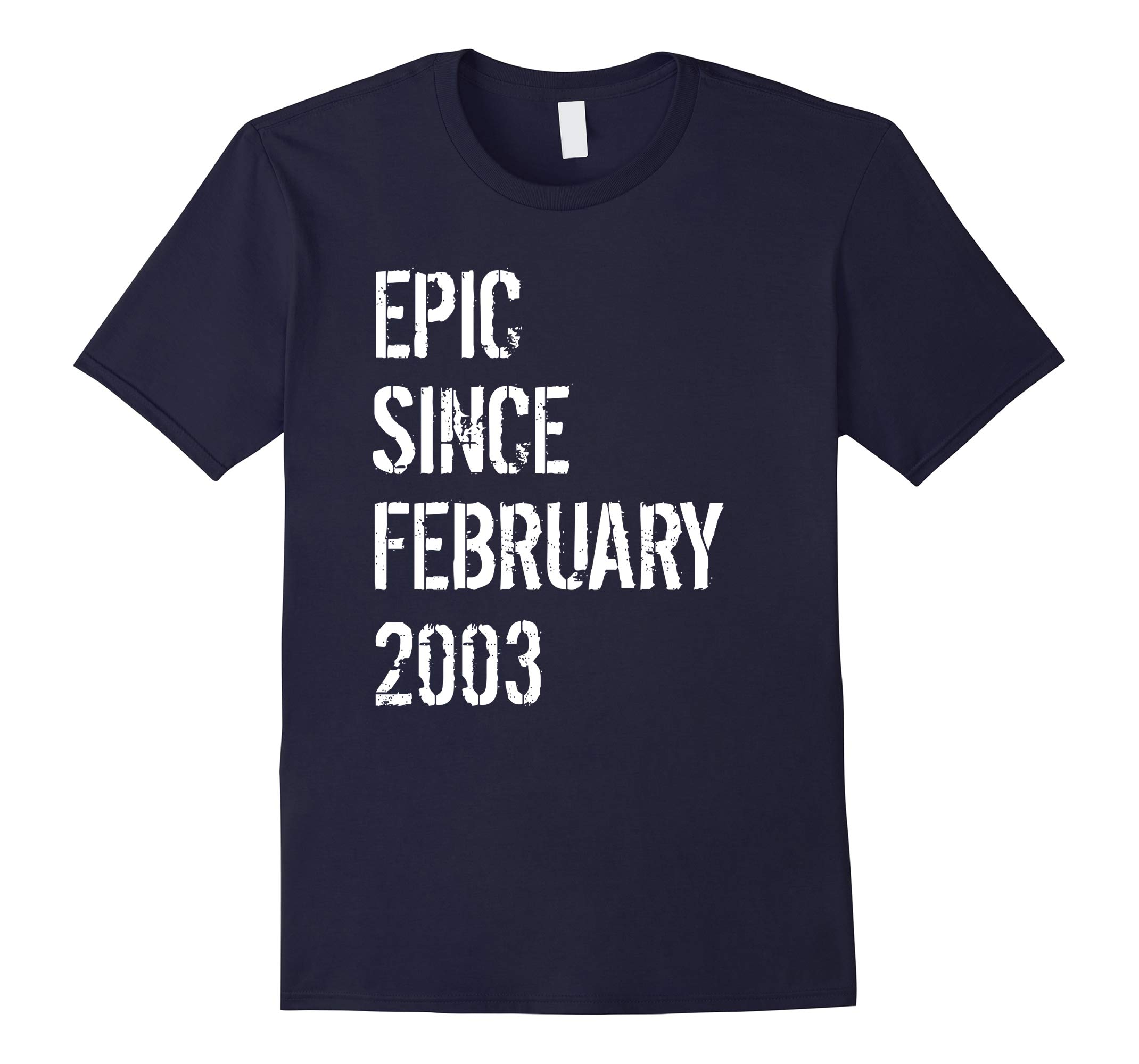15th Birthday Gift Shirt 15 Year Old Born In February 2003-RT