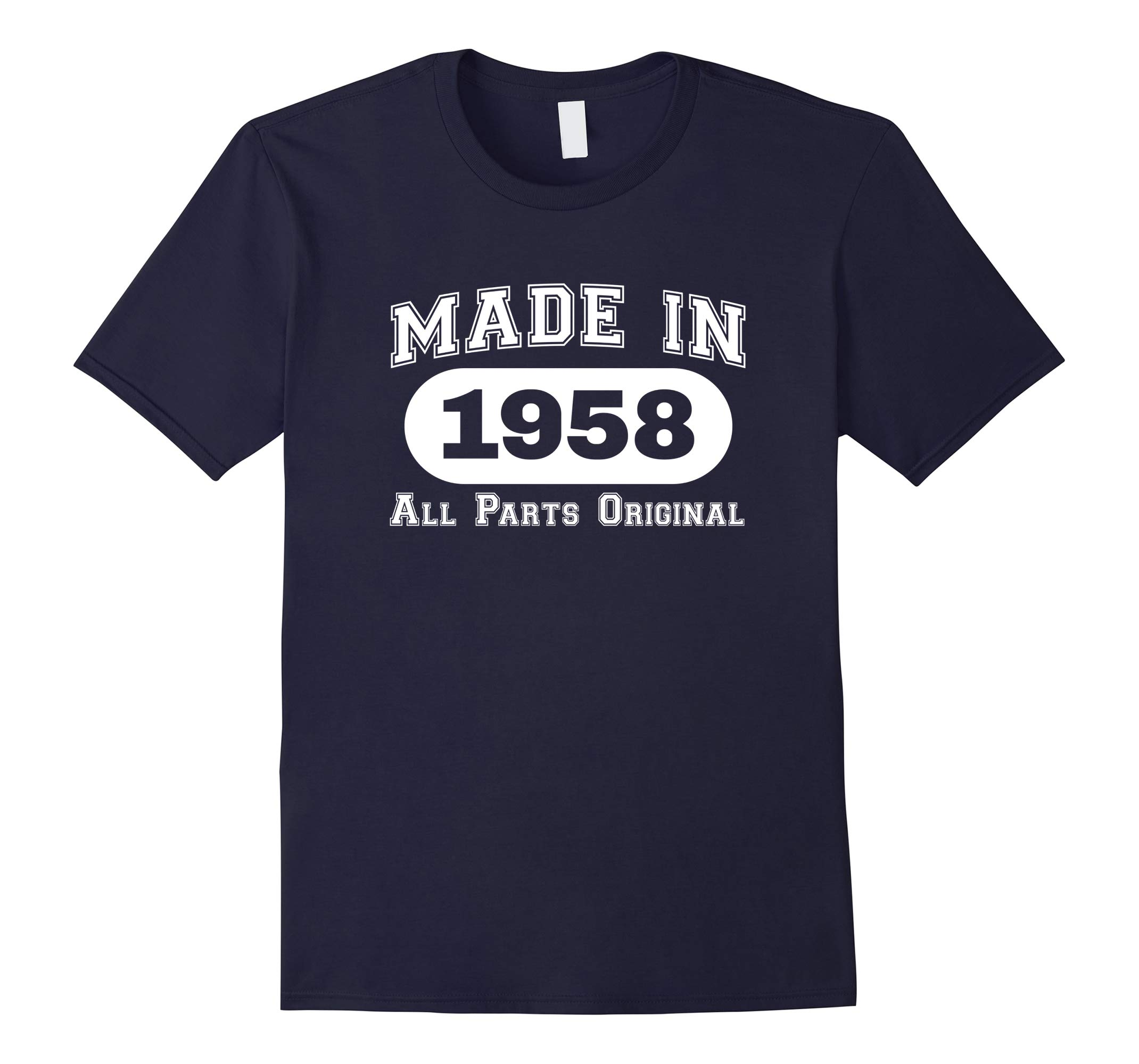 60th Birthday T-Shirt Made In 1958 All Parts Original Tee-RT