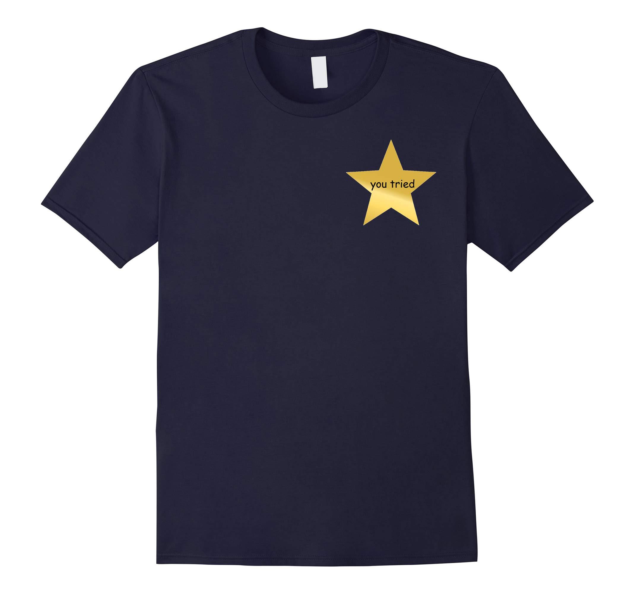 You Tried   Funny Dank Meme Star Comic Sans T-Shirt-RT