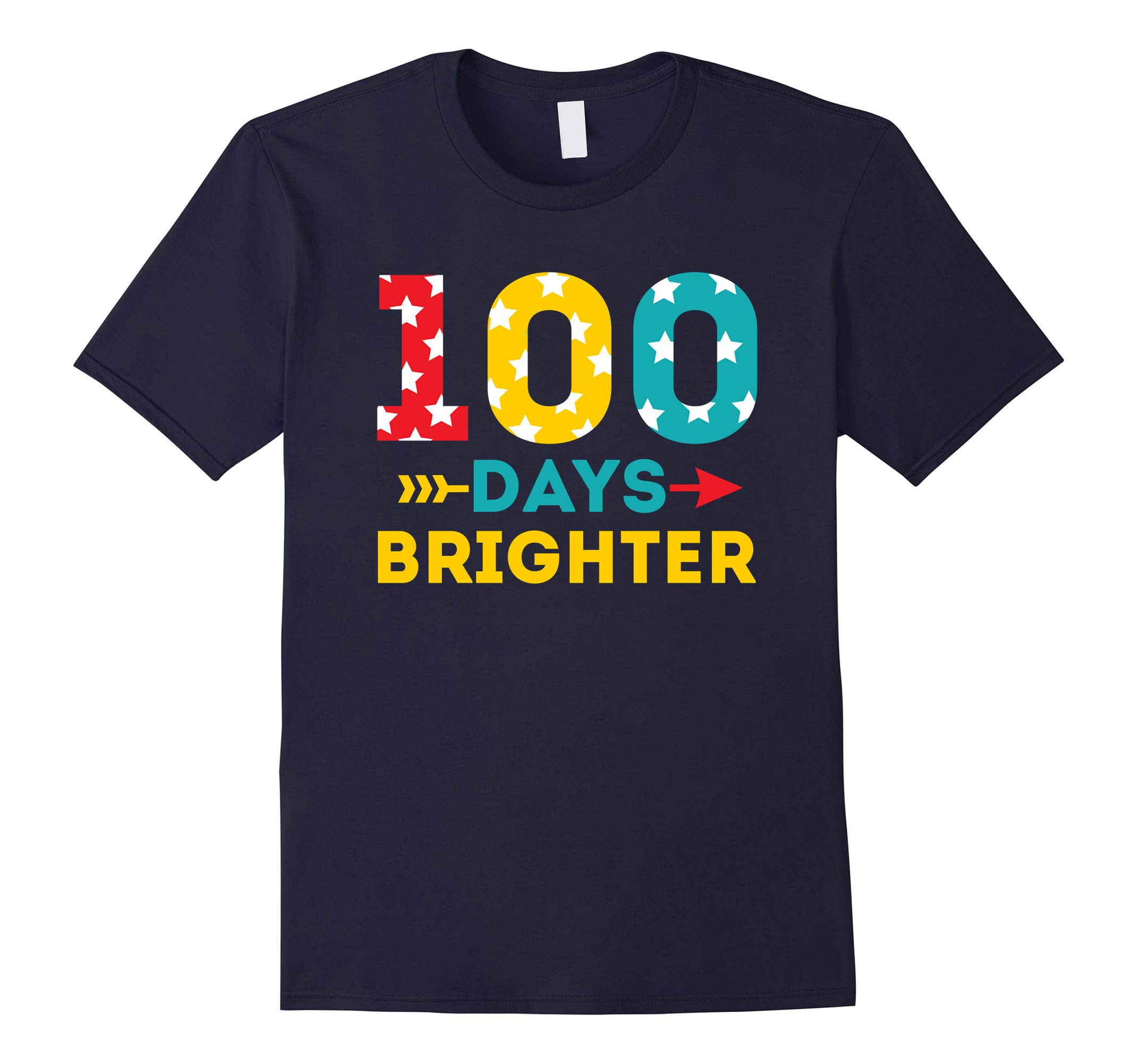 100 days of school Shirt Brighter Tee-RT