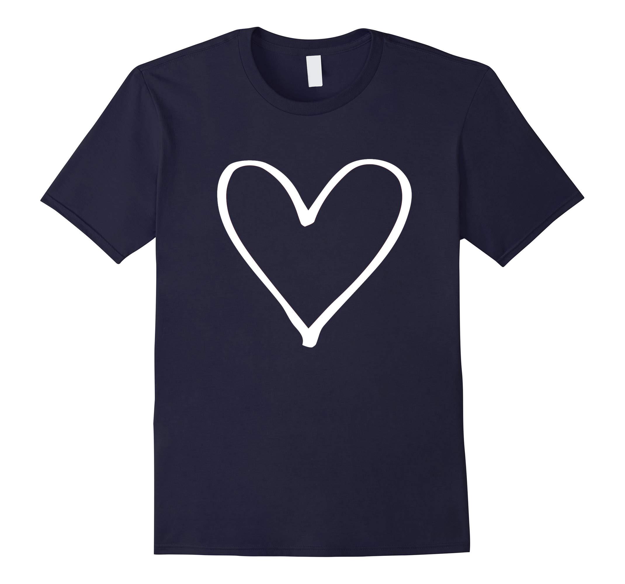 Valentines Day Heart T Shirt White Heart-RT
