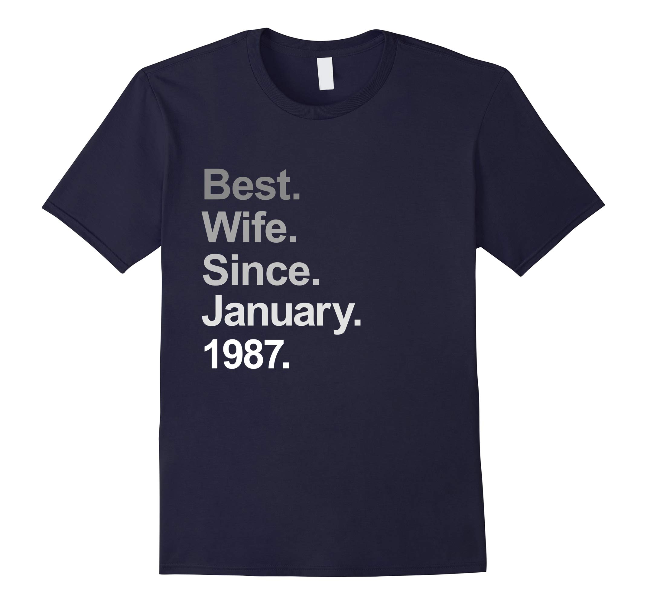 31st Wedding Anniversary Shirt, Best Wife Since January 1987-RT