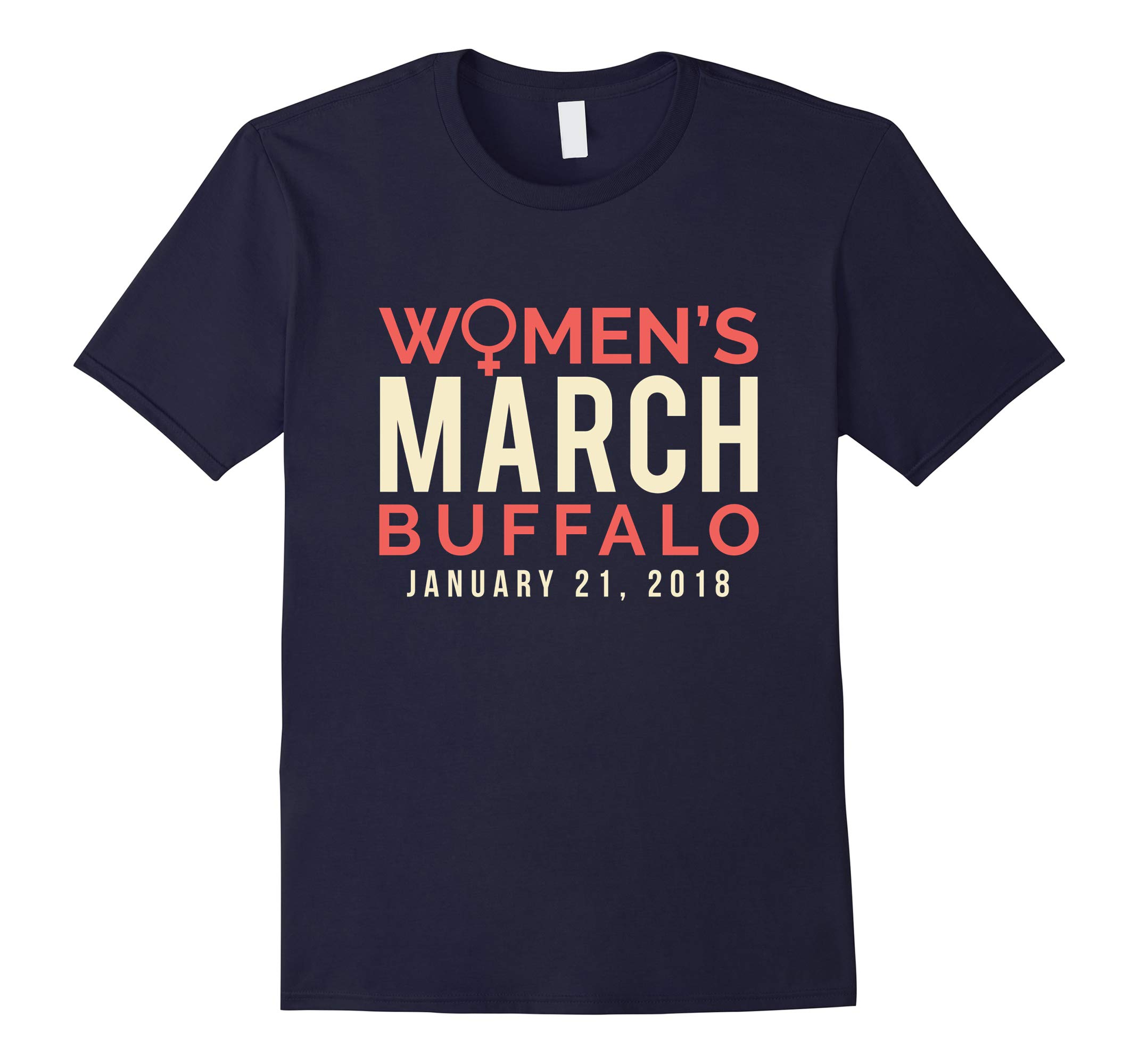 Buffalo New York Women's March January 21 2018 Tee Shirt-RT