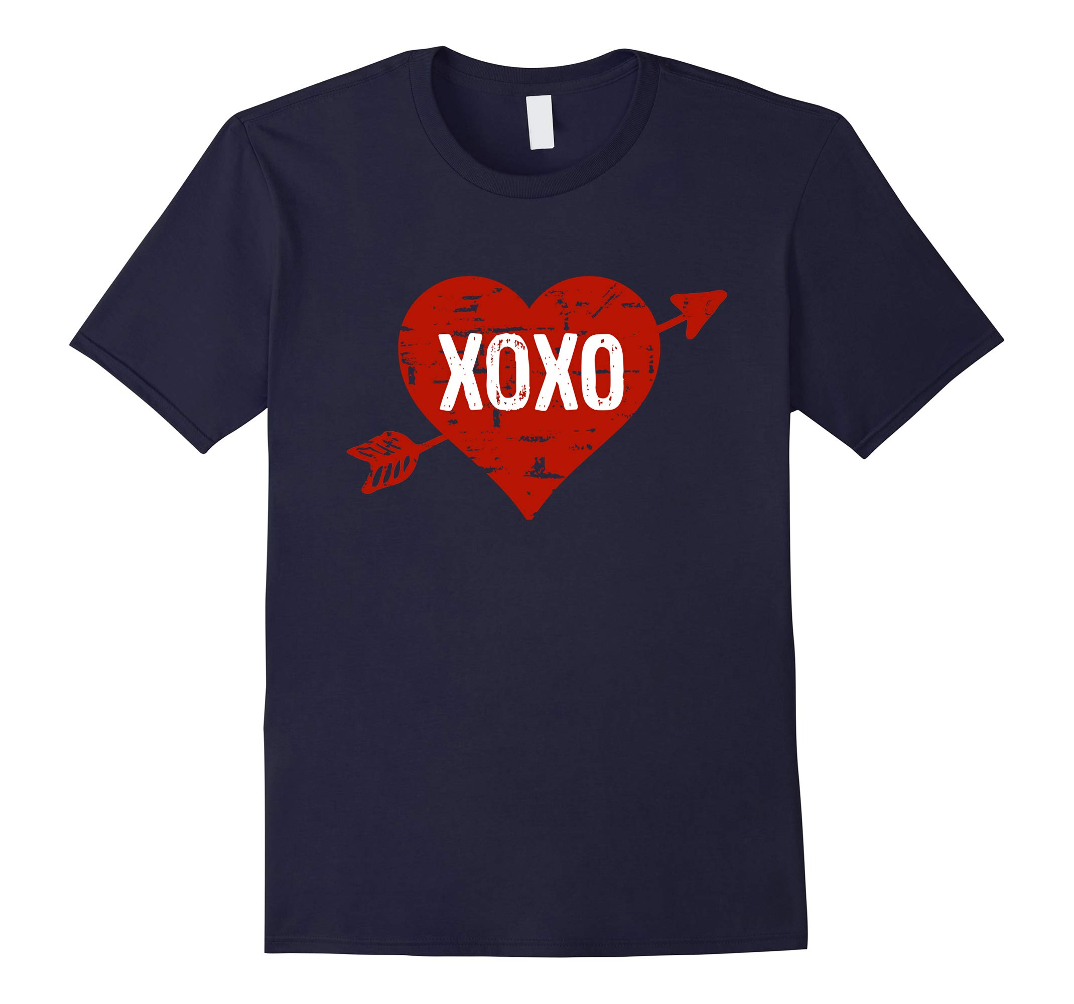 XOXO Cupid's Arrow and Heart Valentine's Day T-Shirt-RT