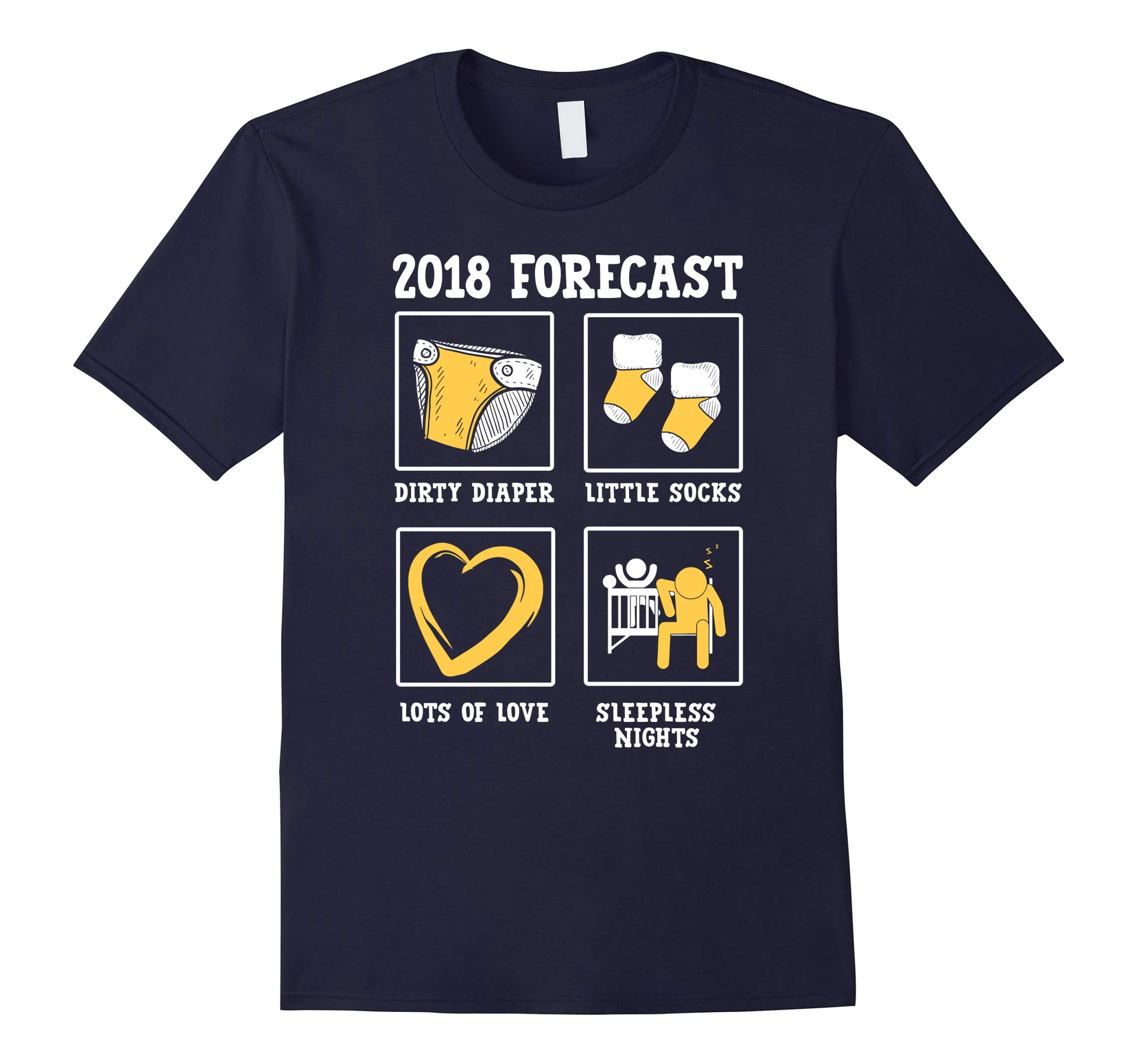 2018 Forecast New Mom Dad Expecting Baby Announcement Shirt-RT