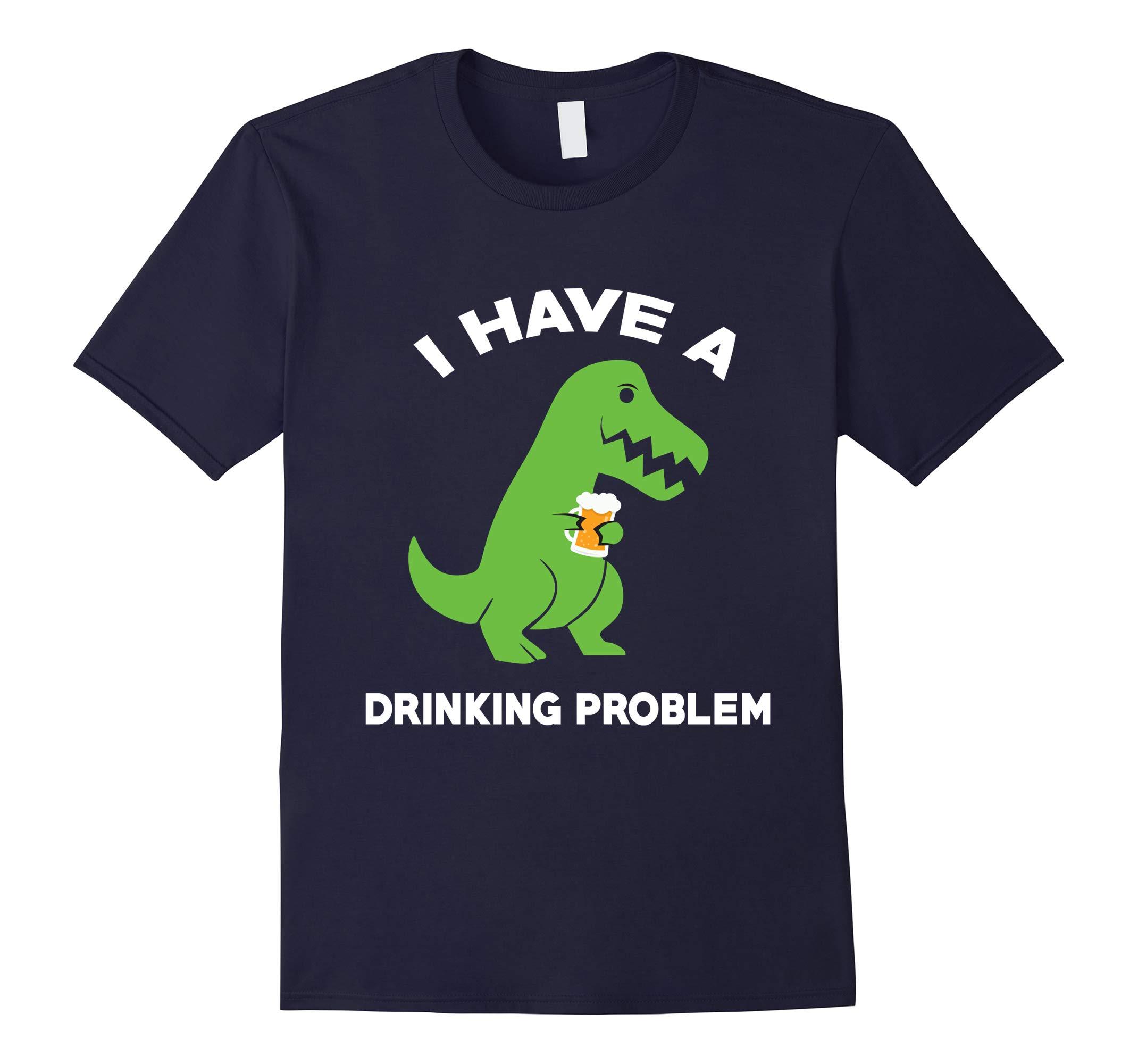 Funny T-REX Drinker Ginger St.patrick day Trex T Shirt-RT